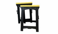 Adjustable sawhorse twin pack